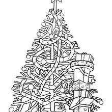 Coloriage d'un arbre de Noel