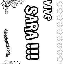 Sara - Coloriage - Coloriage PRENOMS - Coloriage PRENOMS LETTRE S