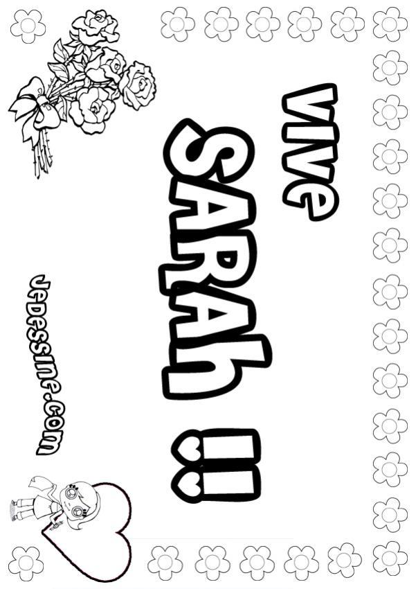 Coloriages sarah - Prenom a imprimer ...
