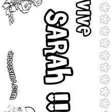 Sarah - Coloriage - Coloriage PRENOMS - Coloriage PRENOMS LETTRE S