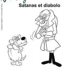 Coloriage de Satanas et Diabolo