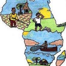 Senegal de Mamadou - Dessin - Dessin PAYS - Dessin AFRIQUE - DESSIN SENEGAL