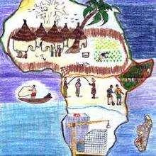 Senegal de Ndiro Abdou - Dessin - Dessin PAYS - Dessin AFRIQUE - DESSIN SENEGAL