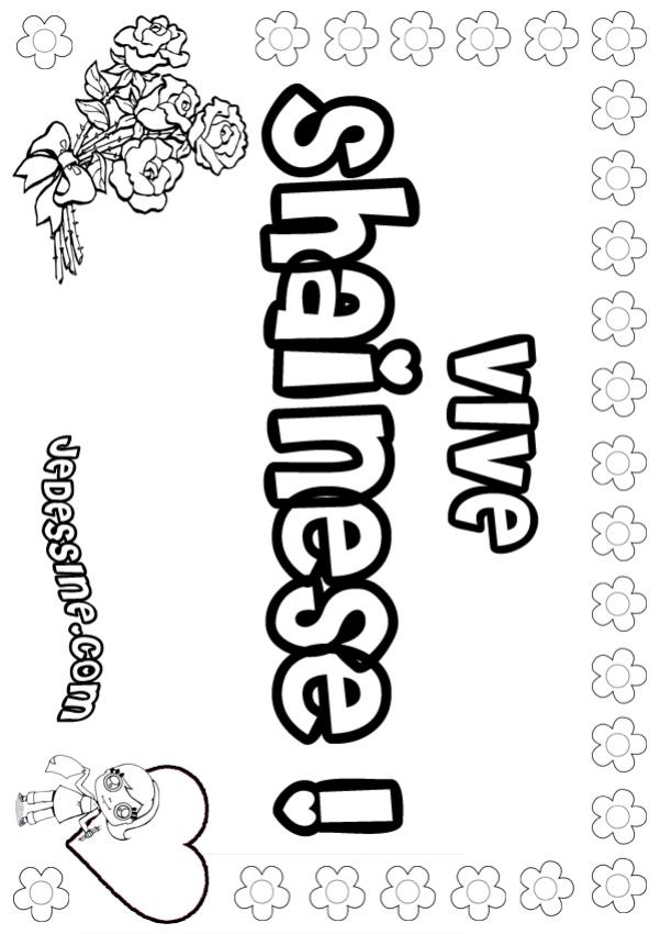 Coloriage : Shainese