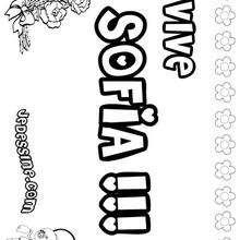 Sofia - Coloriage - Coloriage PRENOMS - Coloriage PRENOMS LETTRE S
