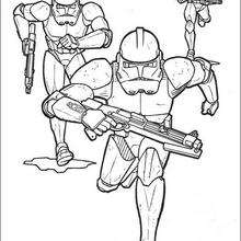 Coloriage STAR WARS des soldats Clone de l'empire