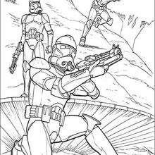 Coloriage STAR WARS des soldats clones armés