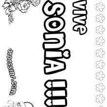 Sonia - Coloriage - Coloriage PRENOMS - Coloriage PRENOMS LETTRE S