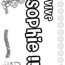Sophie - Coloriage - Coloriage PRENOMS - Coloriage PRENOMS LETTRE S