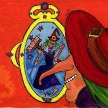 Sorcière dans son miroir - Dessin - Dessin PERSONNAGE - Dessin SORCIERE