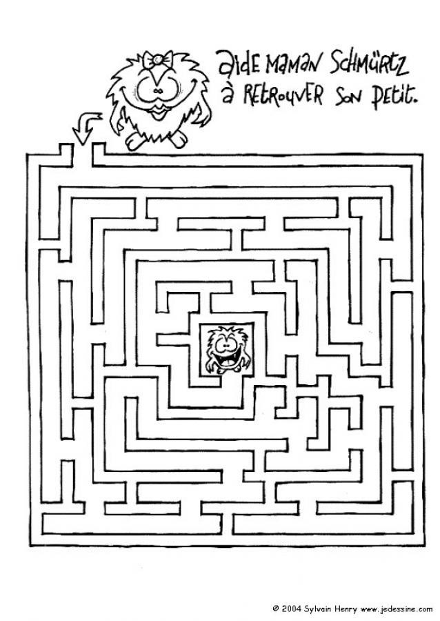 Coloriages sors du labyrinthe - Jeux labyrinthe a imprimer ...