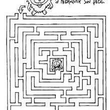 Sors du labyrinthe - Coloriage - Coloriage GRATUIT - Coloriage GRATUIT JEUX A IMPRIMER