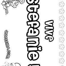Stefanie - Coloriage - Coloriage PRENOMS - Coloriage PRENOMS LETTRE S