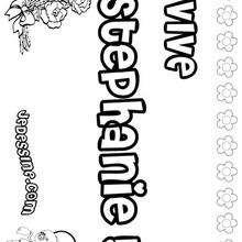 Stephanie - Coloriage - Coloriage PRENOMS - Coloriage PRENOMS LETTRE S