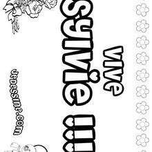 Sylvie - Coloriage - Coloriage PRENOMS - Coloriage PRENOMS LETTRE S