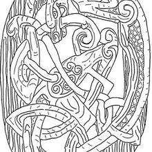 Coloriage d'un symbole celte - Coloriage - Coloriage FETES - Coloriage HALLOWEEN - Coloriage HALLOWEEN A IMPRIMER
