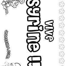 Syrine - Coloriage - Coloriage PRENOMS - Coloriage PRENOMS LETTRE S