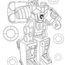 Coloriage Power Rangers : Mega Robot MegaZord