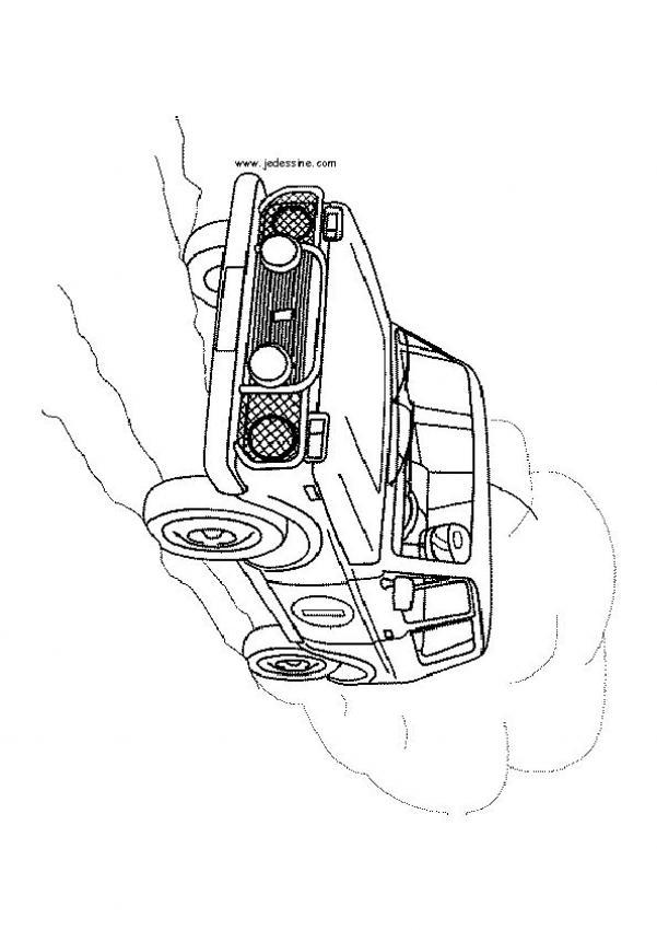 coloriage a imprimer jeep