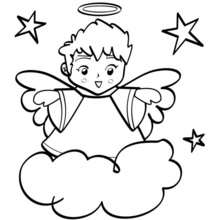 Coloriage d'un ange
