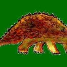 Dessin d'enfant : Un ankylosaure