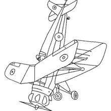 Coloriage d'un avion - Coloriage - Coloriage VEHICULES - Coloriage AVION - Coloriage AVION DE LIGNE