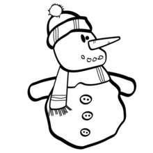 Coloriage d'un bonhomme de neige - Coloriage - Coloriage FETES - Coloriage NOEL - Coloriage BONHOMME DE NEIGE - Coloriage BONHOMME DE NEIGE A IMPRIMER