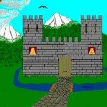 Coloriage gratuit chateau coloriage d 39 un ch teau fort - Dessin d un chateau ...