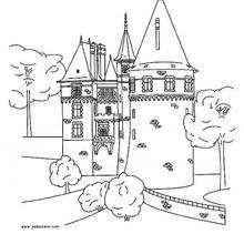 Coloriage d'un château fort - Coloriage - Coloriage A IMPRIMER - Coloriage A IMPRIMER LIEUX ET BATIMENTS