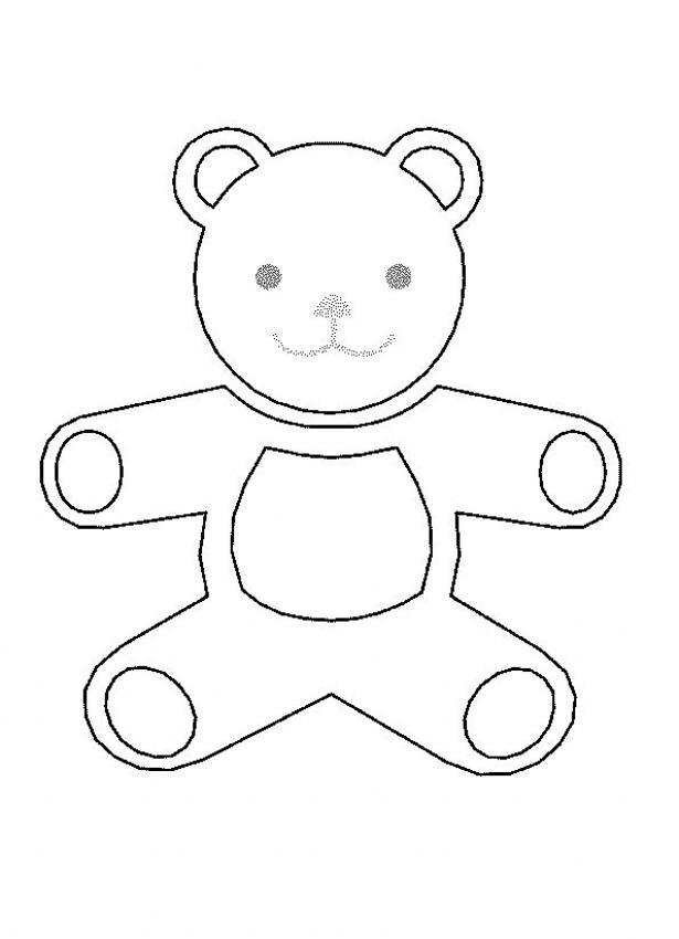 Coloriage d'un ours en peluche
