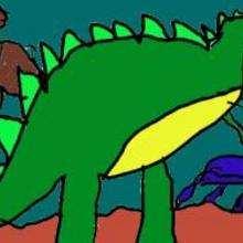 Un Tyranosaure - Dessin - Dessin ANIMAUX - Dessin DINOSAURE - Dessin TYRANOSAURE