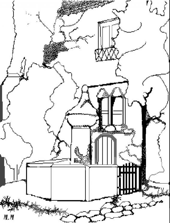 Coloriage d'une fontaine