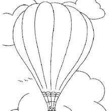 Coloriage d'une montgolfiere