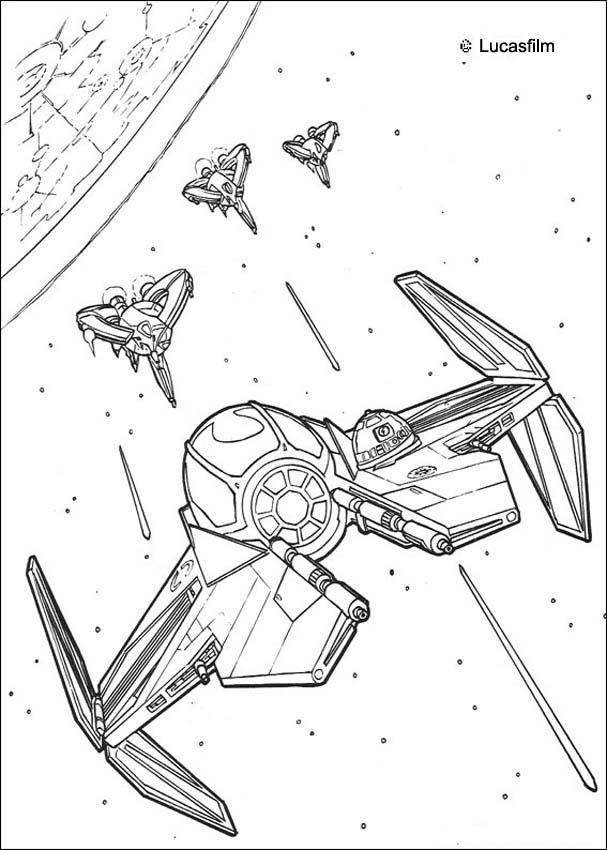 Coloriages coloriage star wars du vaisseau dans l 39 espace - Star wars a imprimer gratuit ...