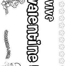 Valentine - Coloriage - Coloriage PRENOMS - Coloriage PRENOMS LETTRE V