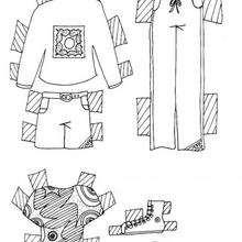 Coloriage de vêtements pour fille