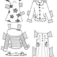 Coloriage de vêtements de poupée