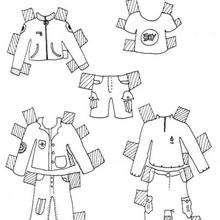 Coloriage de vêtements pour garçon