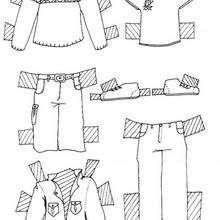Coloriage de vêtements pour homme