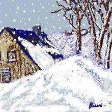 Vive la neige - Dessin - Dessin PAYSAGES - Dessin PAYSAGES A COLORIER