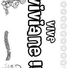 Viviane - Coloriage - Coloriage PRENOMS - Coloriage PRENOMS LETTRE V