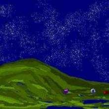 Voûte étoilée - Dessin - Dessin PAYSAGES - Dessin PAYSAGES A COLORIER