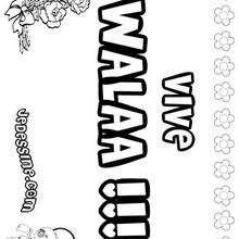 Walaa - Coloriage - Coloriage PRENOMS - Coloriage PRENOMS LETTRE W