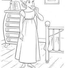 Coloriage de Wendy - Coloriage - Coloriage DISNEY - Coloriage PETER PAN