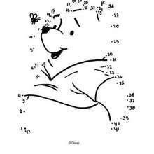 Winnie N°3 - Jeux - Jeux de Points à relier - Points à relier Animaux moyens