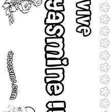 Yasmine - Coloriage - Coloriage PRENOMS - Coloriage PRENOMS LETTRE Y