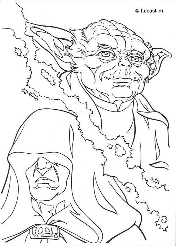 Coloriages coloriage star wars de yoda contre l 39 empereur for Yoda coloring pages