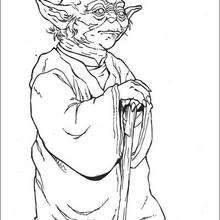 Coloriage STAR WARS de Yoda le sage - Coloriage - Coloriage FILMS POUR ENFANTS - Coloriage STAR WARS - Coloriage MAITRE YODA