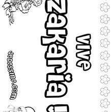 Zakaria - Coloriage - Coloriage PRENOMS - Coloriage PRENOMS LETTRE Z