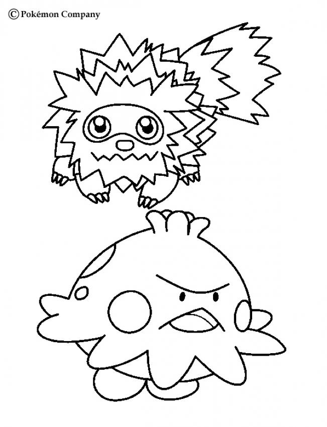 Coloriage de Zigzaton - Coloriage - Coloriage POKEMON - Coloriages de POKEMON PAR NOM ET GENERATION